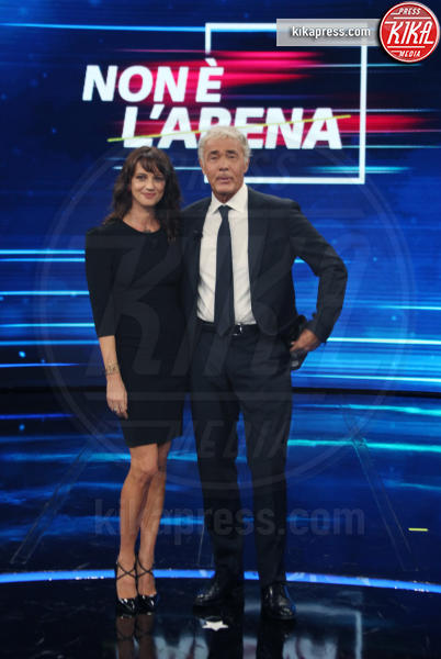 Massimo Giletti, Asia Argento - Roma - 30-09-2018 - Asia Argento bacia Corona: