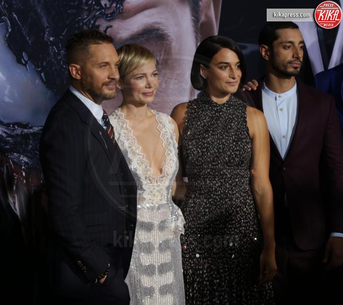 Jenny Slate, Riz Ahmed, Tom Hardy, Michelle Williams - Westwood - 02-10-2018 - Michelle Williams, alla prima di Venom brilla la vera nuziale