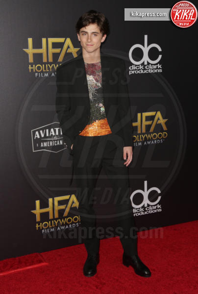 Timothée Chalamet - Beverly Hills - 04-11-2018 - Hollywood Film Awards, premio alla carriera per Nicole Kidman