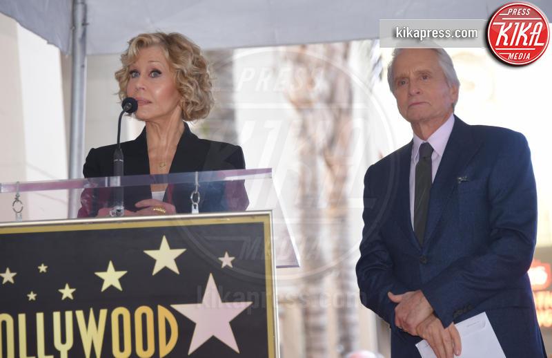 Jane Fonda, Michael Douglas - Hollywood - 06-11-2018 - Michael Douglas, stella al bacio sulla Walk of Fame!