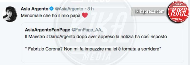 Asia Argento - 07-11-2018 - Asia Argento contro la madre: la reazione di Fabrizio Corona
