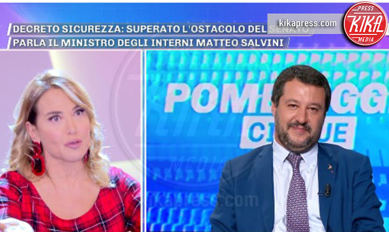 Barbara D'Urso, Matteo Salvini - 08-11-2018 - Barbara D'Urso provoca Matteo Salvini: