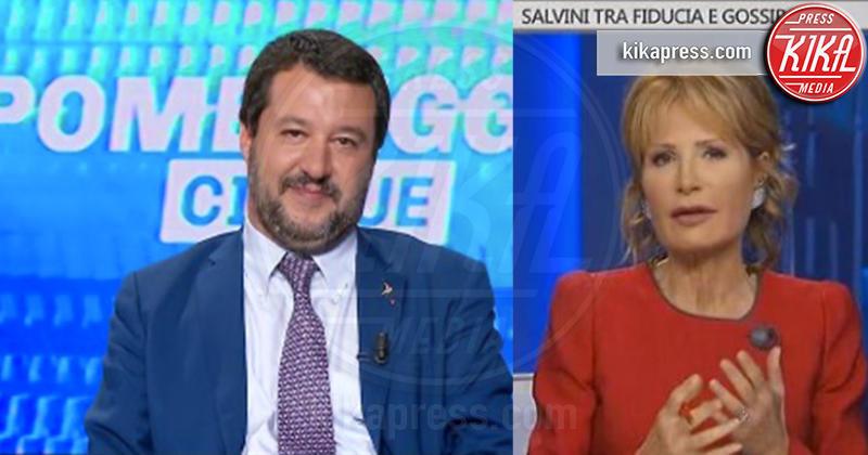 Lilli Gruber, Matteo Salvini - 08-11-2018 - Barbara D'Urso provoca Matteo Salvini: