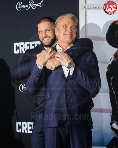 Florian Munteanu, Dolph Lundgren - New York - 15-11-2018 - Rocky e Ivan Drago insieme alla premiere di Creed II