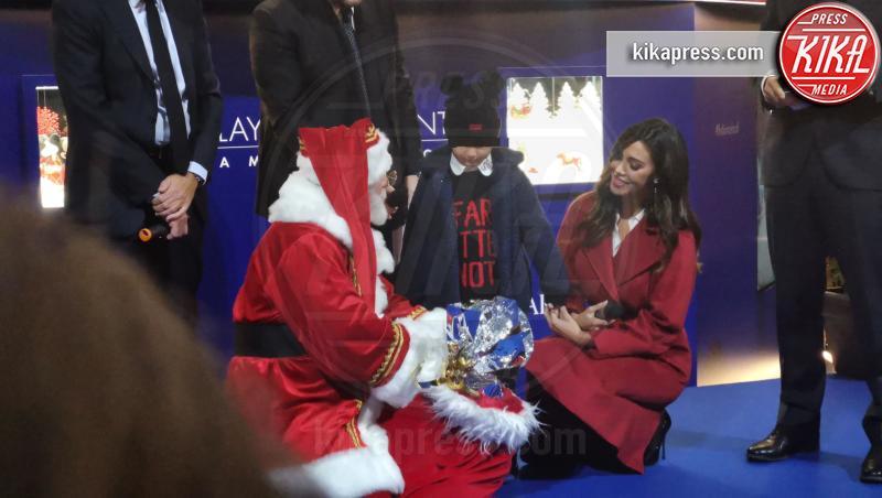 Santiago De Martino, Belen Rodriguez - Milano - 04-12-2018 - Belen Rodriguez accende il Natale milanese firmato Swarovski
