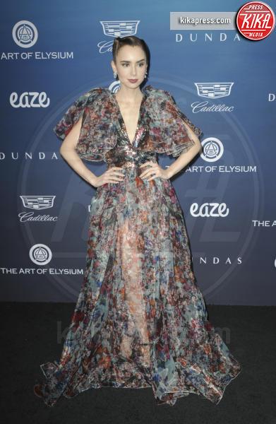 Lily Collins - Los Angeles - 06-01-2019 - Emily Ratajkowski: regina rossa all'Art of Elysium Heaven Gala