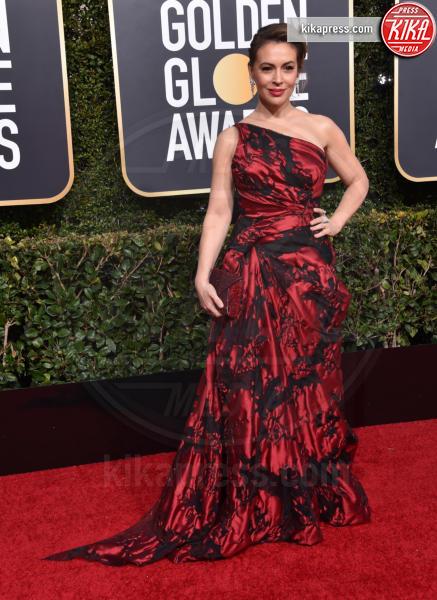 Alyssa Milano - Beverly Hills - 06-01-2019 - Golden Globe 2019: sul red carpet vince... il rosso!
