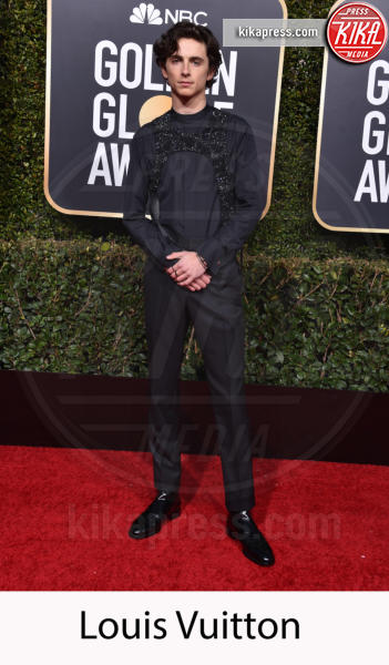 Timothée Chalamet - Beverly Hills - 06-01-2019 - Golden Globe 2019: gli stilisti sul red carpet