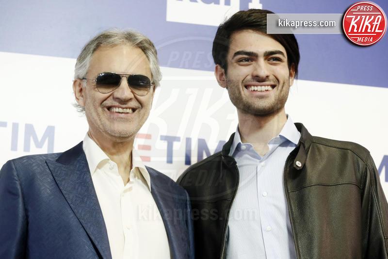 Matteo Bocelli, Andrea Bocelli - Sanremo - 05-02-2019 - Sanremo 2019, Andrea Bocelli porta all'Ariston il figlio Matteo