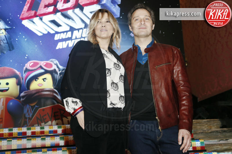 Francesca Barra, Claudio Santamaria - Milano - 17-02-2019 - Melissa Satta, eterna bambina alla première di The Lego Movie 2