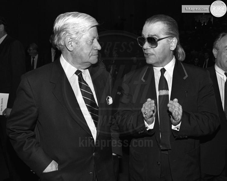 Helmut Schmidt, Karl Lagerfeld - 04-12-1989 - Karl Lagerfeld, ecco le sue ultime volontà