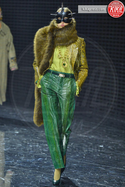 Milano - 20-02-2019 - Milano Fashion Week: Gucci fa sfilare le maschere in passerella
