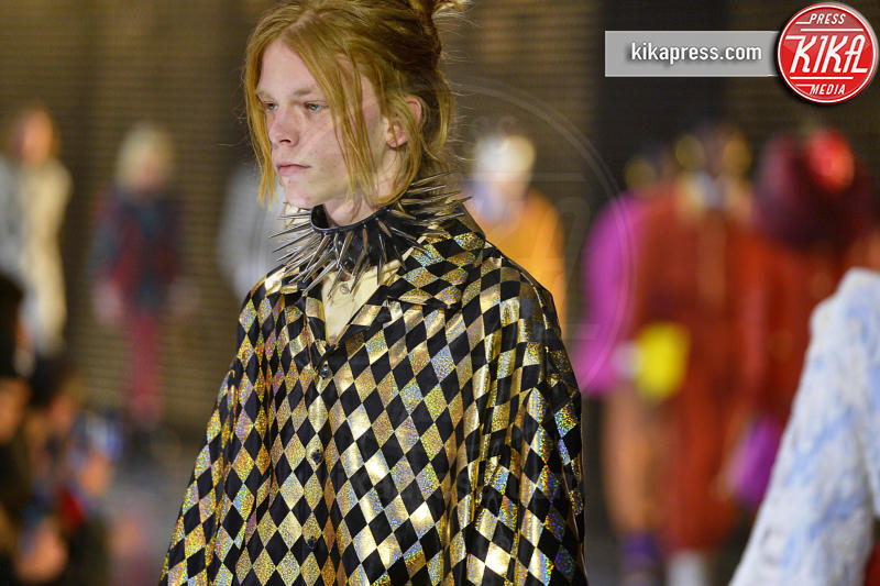 sfilata Gucci, Model - Milano - 20-02-2019 - Milano Fashion Week: Gucci fa sfilare le maschere in passerella