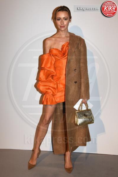 sfilate moda donna feb19, Ospite - Milano - 24-02-2019 - MFW: Ambra con la figlia Jolanda da Ermanno Scervino