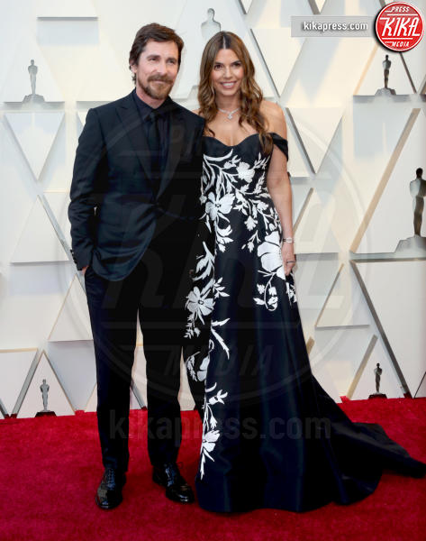 Sibi Blazic, Christian Bale - Los Angeles - 24-02-2019 - Oscar 2019: le coppie sul red carpet