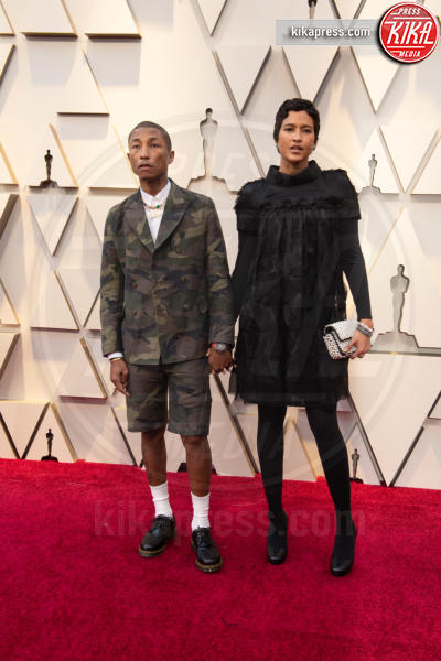 Helen Lasichanh, Pharrell Williams - Hollywood - 24-02-2019 - Oscar 2019: le coppie sul red carpet