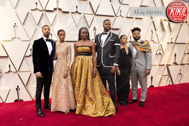 Winston Duke, Letitia Wright, Ryan Coogler, Danai Gurira, Michael B. Jordan - Hollywood - 24-02-2019 - Oscar 2019: gli arrivi sul red carpet