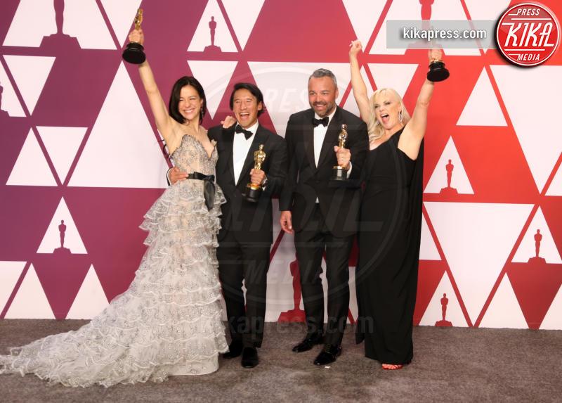 Shannon Dill, Evan Hayes, Elizabeth Chai Vasarhelyi, Jimmy Chin - Hollywood - 24-02-2019 - Oscar 2019: vincono Roma, Green Book, Bohemian Rhapsody