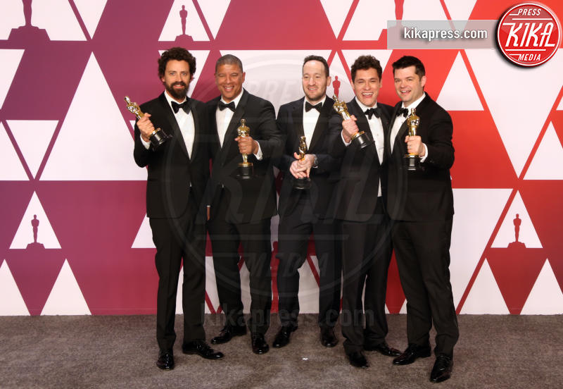 Rodney Rothman, Bob Persichetti, Christopher Miller, Phil Lord, Peter Ramsey - Hollywood - 24-02-2019 - Oscar 2019: vincono Roma, Green Book, Bohemian Rhapsody