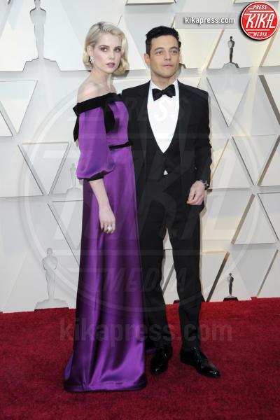Lucy Boynton, Rami Malek - Los Angeles - 24-02-2019 - Oscar 2019: gli arrivi sul red carpet