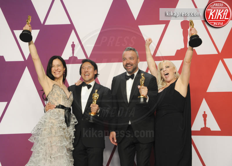 Shannon Dill, Evan Hayes, Elizabeth Chai Vasarhelyi, Jimmy Chin - Los Angeles - 25-02-2019 - Oscar 2019: vincono Roma, Green Book, Bohemian Rhapsody