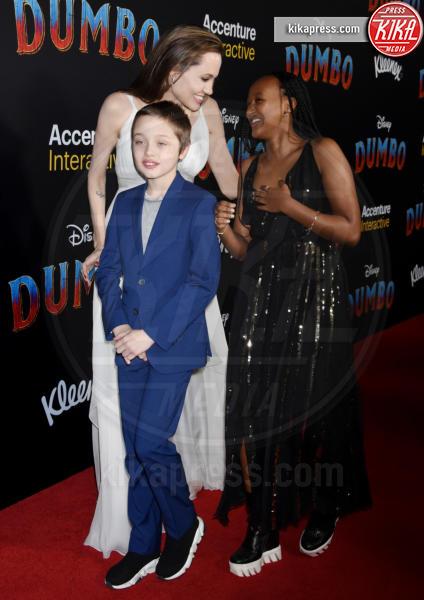 Knox Jolie-Pitt, Zahara Jolie-Pitt, Angelina Jolie - Hollywood - 11-03-2019 - Angelina Jolie brilla come una stella alla prima di Dumbo