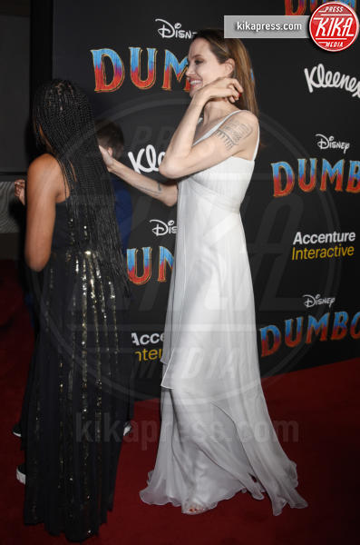 Zahara Marley Jolie-Pitt, Knox Jolie-Pitt, Angelina Jolie - Hollywood - 11-03-2019 - Angelina Jolie brilla come una stella alla prima di Dumbo