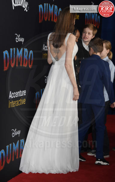 Knox Jolie-Pitt, Vivienne Marcheline Jolie-Pitt, Shiloh Jolie-Pitt, Zahara Jolie-Pitt, Angelina Jolie - Hollywood - 11-03-2019 - Angelina Jolie brilla come una stella alla prima di Dumbo