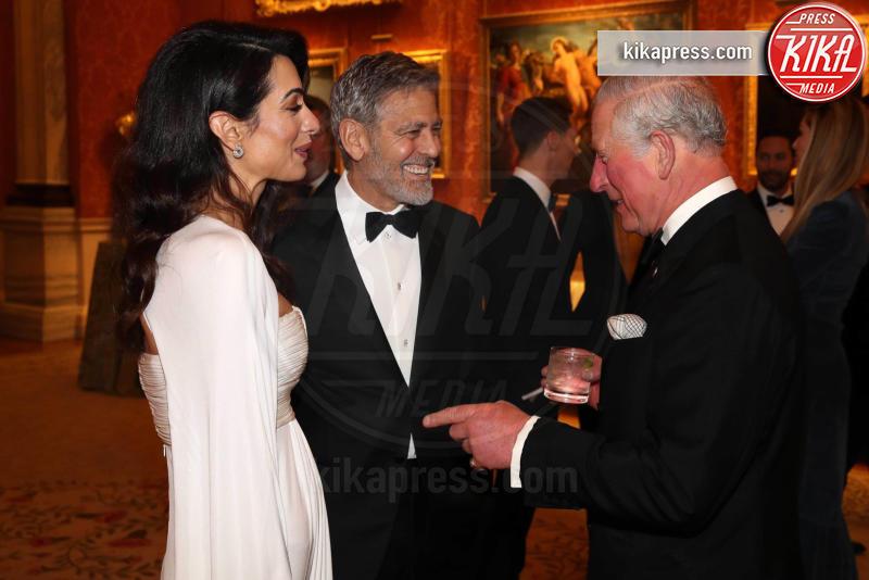 Prince's Trust Dinner 2019, Amal Clooney, Principe Carlo d'Inghilterra, George Clooney - Londra - 12-03-2019 - Amal e George Clooney, che risate col Principe Carlo!