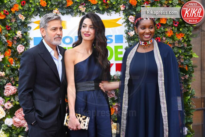 Nice Nailantei Leng'ete, Amal Alamuddin Clooney, George Clooney - Edimburgo - 14-03-2019 - Amal e George Clooney: il cuore d'oro della golden couple