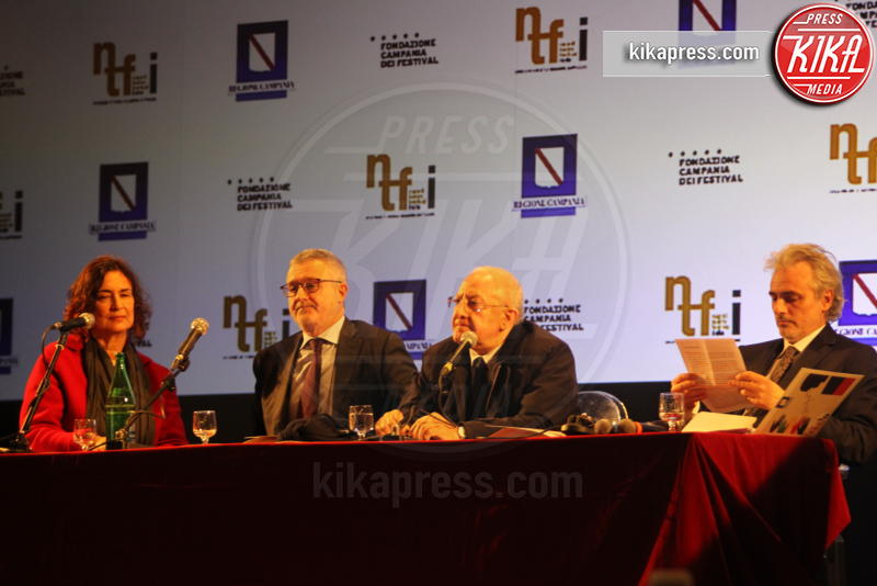 Anna Imponente, Alessandro Barbano, Vincenzo De Luca - Napoli - 14-03-2019 - Napoli Teatro Festival Italia: il via alla decima edizione