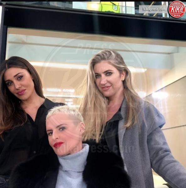 Patrizia Griffini, Belen Rodriguez - Torino - 15-03-2019 - Belen, rispunta la farfallina e il web impazzisce