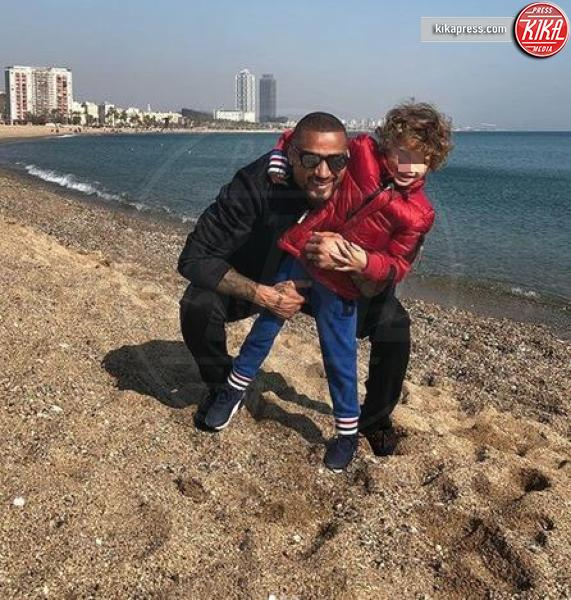 Kevin Prince Boateng, Maddox Boateng - Milano - 18-03-2019 - Festa del papà, i padri single dello star system