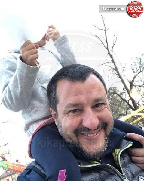Mirta Salvini, Matteo Salvini - Milano - 18-03-2019 - Festa del papà, i padri single dello star system