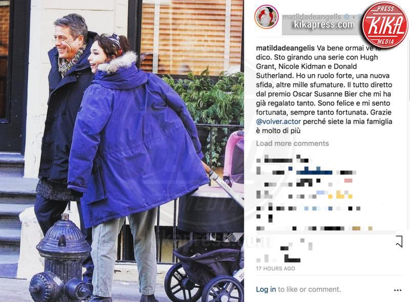 Matilda De Angelis, Hugh Grant - 18-03-2019 - Matilda De Angelis sul set con Hugh Grant, ecco le prime foto