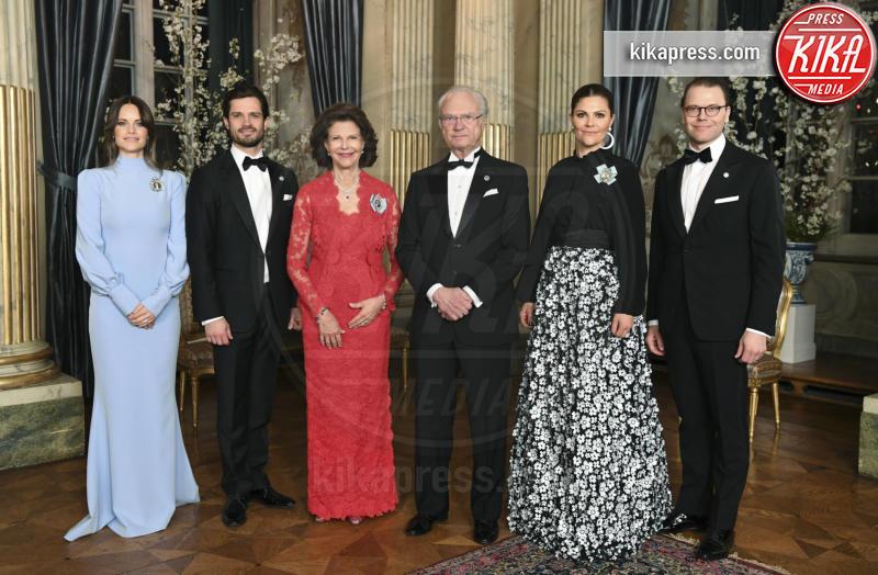 Principe Carlo Filippo di Svezia, Principessa Victoria di Svezia, Principessa Sofia di Svezia, Regina Silvia di Svezia, Carlo Gustavo di Svezia, Daniel Westling - Stoccolma - 11-02-2019 - Charlize Theron e Sofia di Svezia, chi lo indossa meglio?