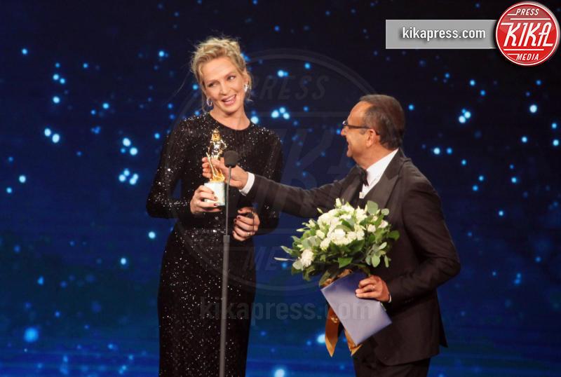 Carlo Conti, Uma Thurman - Roma - 27-03-2019 - David di Donatello 2019, le emozioni della cerimonia