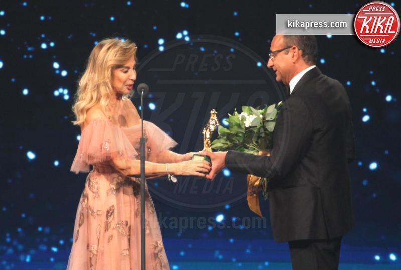 Francesca LoSchiavo, Carlo Conti - Roma - 27-03-2019 - David di Donatello 2019, le emozioni della cerimonia