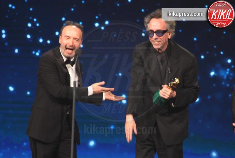 Roberto Benigni, Tim Burton - Roma - 27-03-2019 - David di Donatello 2019, le emozioni della cerimonia