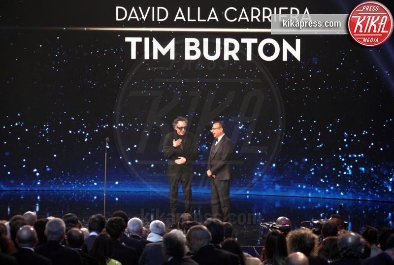 Carlo Conti, Tim Burton - Roma - 27-03-2019 - David di Donatello 2019, le emozioni della cerimonia