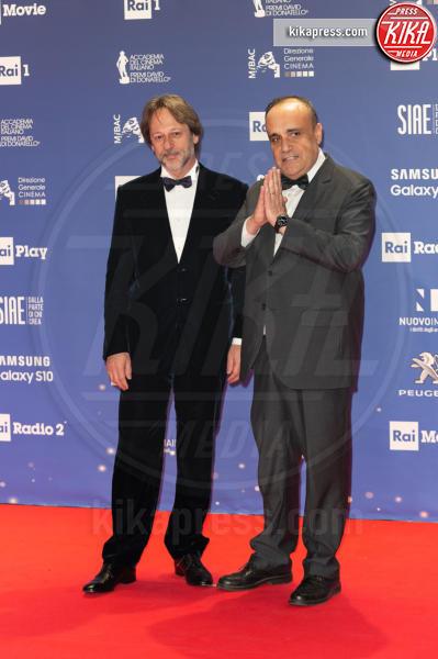 Roma - 27-03-2019 - David 2019: il volo della gonna di Taylor Mega sul red carpet