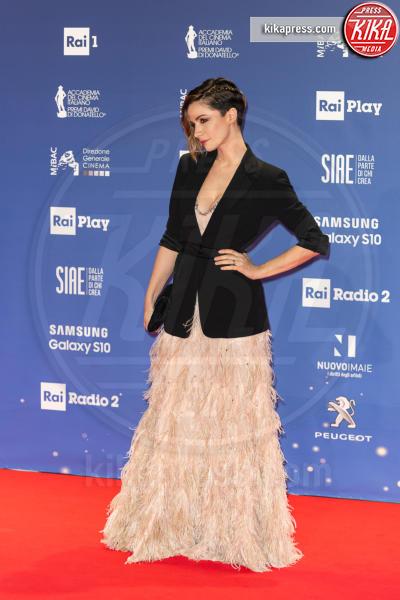 Andrea Delogu - Roma - 27-03-2019 - David 2019: il volo della gonna di Taylor Mega sul red carpet