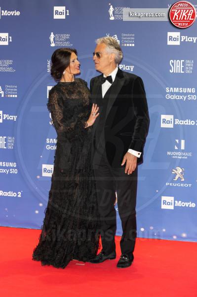 Andrea Bocelli - Roma - 27-03-2019 - David 2019: il volo della gonna di Taylor Mega sul red carpet