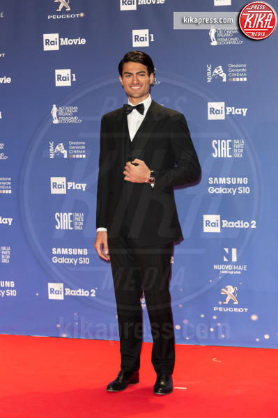 Matteo Bocelli - Roma - 27-03-2019 - David 2019: il volo della gonna di Taylor Mega sul red carpet