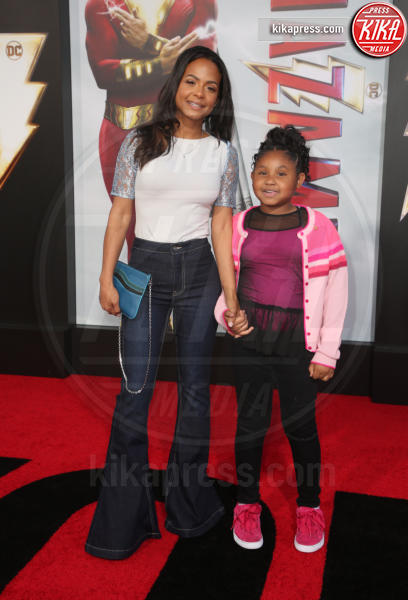 Violet Madison Nash, Christina Milian - Hollywood - 29-03-2019 - Shazam!: le immagini della premiére di Los Angeles