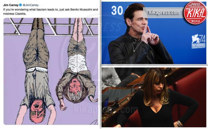 Alessandra Mussolini, Jim Carrey - Milano - 31-03-2019 - Addio 2019, le immagini simbolo dell'anno