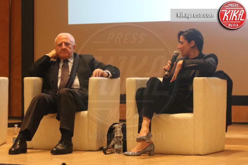 Vincenzo De Luca, Luisa Ranieri - Napoli - 04-04-2019 - Pippo Baudo diventa scrittore e apre Napoli Città Libro