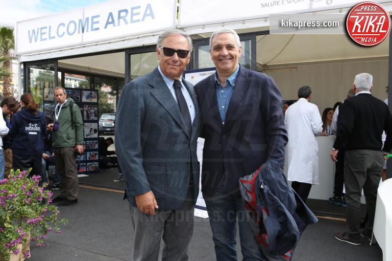 Maurizio De Giovanni, Riccardo Villari - Napoli - 13-04-2019 - Paolo Bonolis e Jimmy Ghione trionfano a Napoli Tennis & Friends