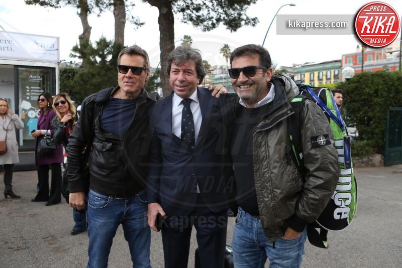 Giorgio Meneschincheri, Max Giusti, Jimmy Ghione - Napoli - 13-04-2019 - Paolo Bonolis e Jimmy Ghione trionfano a Napoli Tennis & Friends