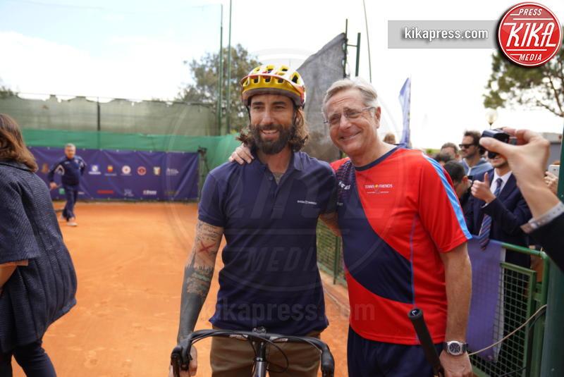 Vittorio Brumotti, Paolo Bonolis - Napoli - 13-04-2019 - Paolo Bonolis e Jimmy Ghione trionfano a Napoli Tennis & Friends